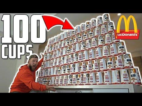 100 McDONALD's DRINKS MONOPOLY EXPERIMENT CHALLENGE!