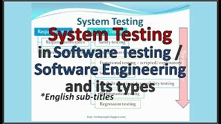 What is SYSTEM TESTING in software testing