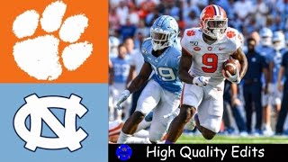 #1 Clemson vs North Carolina Highlights | NCAAF Week 5 | College Football Highlights