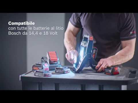 Lampada da lavoro a batteria GLI 18V-1900 Professional Bosch