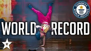 Kid Breaks World Record BREAKDANCE on Kids Got Talent China | Got Talent Global