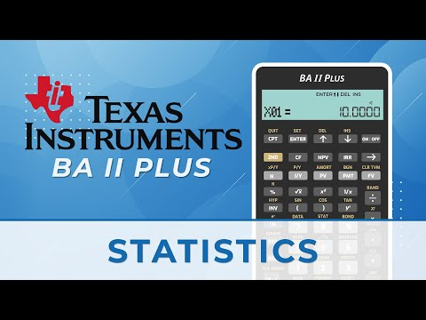 Solving Statistical Problems with Texas Instruments BA II Calculator ...