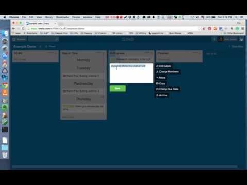 Agile SCRUM for Trello board demo