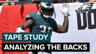 Eagles Tape Study: Duce Staley Analyzes The Running Backs | Eagles Game Plan