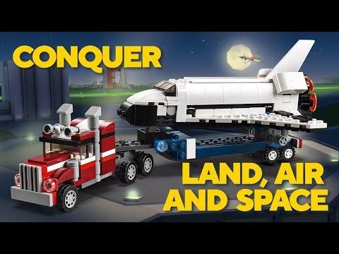 Vidéo LEGO Creator 31091 : Le transporteur de navette