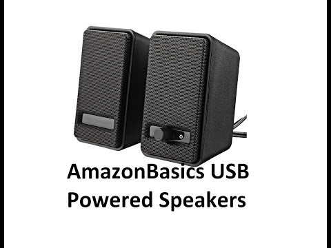 unboxing review amazonbasics usb powered computer speakers