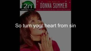 """Donna Summer - Christmas Spirit LYRICS - Remastered """"Christmas Spirit"""" 1994/2005"""