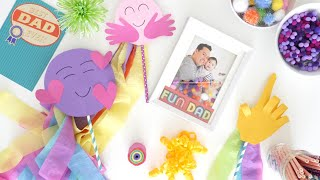 FATHERS DAY CRAFTS | Emoji Photo Booth Props & DIY Photo Frame