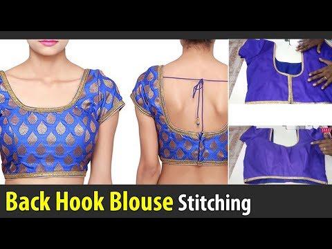 back hook blouse stitching class back open blouse back button blouse tailoring class