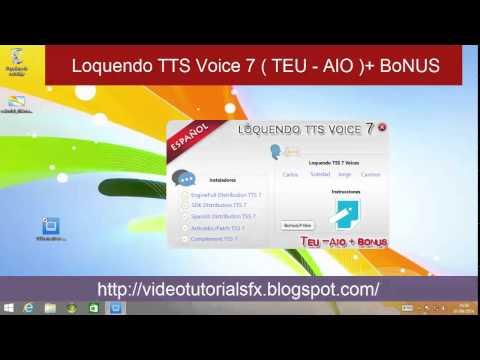 Pack Completo TextAloud con voces Loquendo en español para windows 8 y 8.1