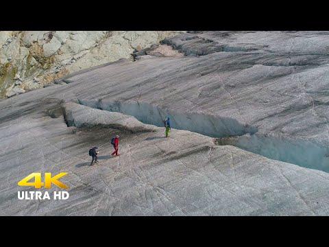 Sul Ghiacciaio dell'Adamello a 3000 m (4K)