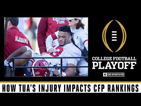Impact of Tua Tagovailoa Injury on Alabama's Playoff Chances | CBS Sports HQ