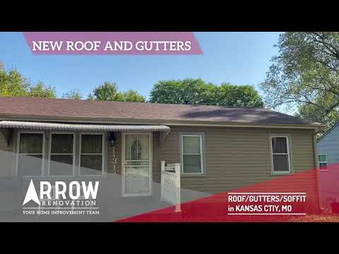 Roof Replacement & New Gutters Installed on Kansas City, MO Home