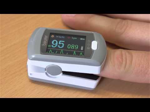 Pulsoximeter zur Messung von Herzfrequenz und Sauerstoffsättigung Beurer PO 80