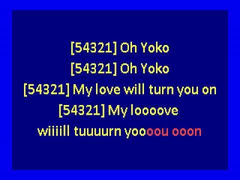 John Lennon  - Oh Yoko! (karaoke)