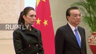 China: Premier Li Keqiang welcomes New Zealand's Ardern in Beijing