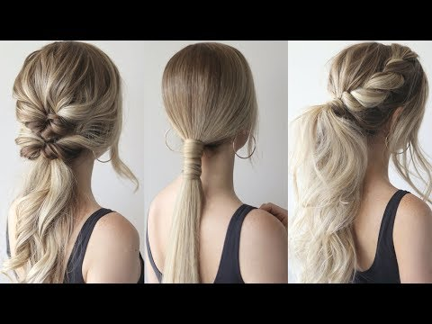 HOW TO: EASY PONYTAILS Perfect Prom Hairstyles 2019
