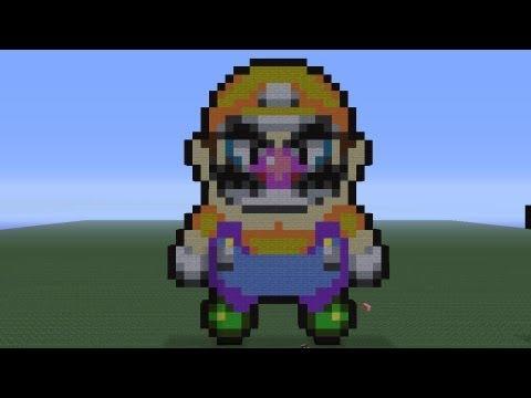 Minecraft Pixel Art Wario Sprite Tutorial Minecraftvideostv