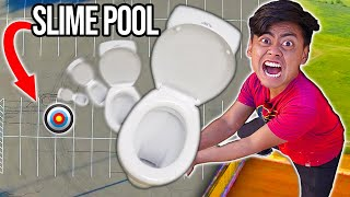 Dropping a Toilet From 1,000cm into a Slime Pool!
