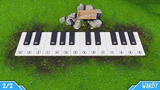 Fortnite Battle Royale - Pleasant Park & Lonely Lodge Piano Locations / Solutions