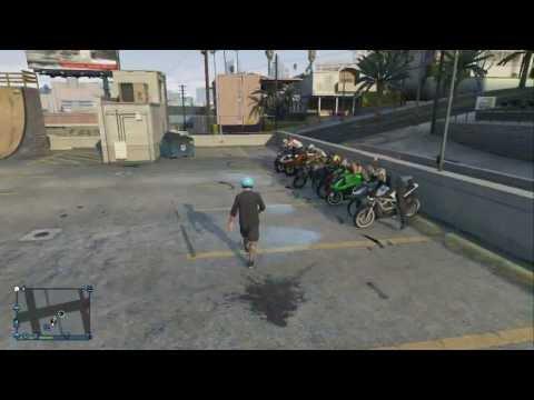 Video GTA 5 Bike Meet Up And Drag Races! #1