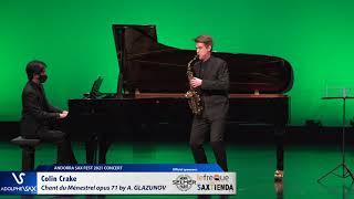 Colin Crake plays Chant du Ménestrel opus 71 by Alexander GLAZUNOV