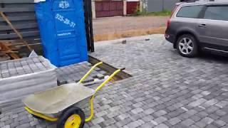 Тротуарная плитка на бетонное основание.