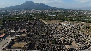 Pompeii from drone