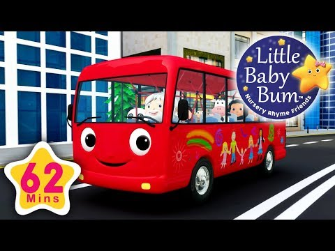 Download Wheels On The Bus | Part 13 | Plus More Nursery Rhymes | 62 Minutes Compilation from LBB! HD Video