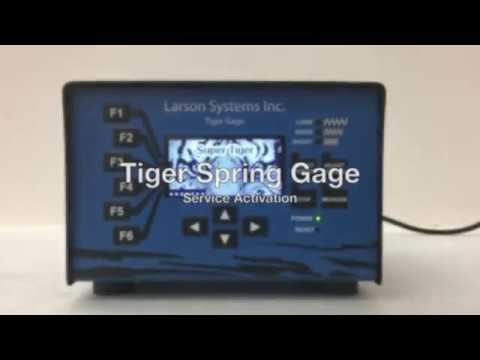Tiger Spring Gage - Service Activation