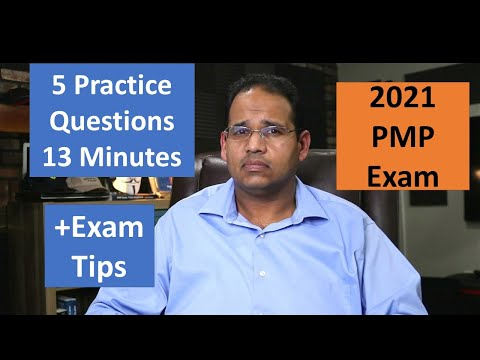 PMP 2021, 5 Practice Questions in 13 Minutes - YouTube