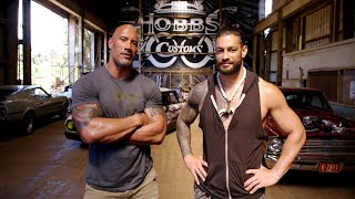 """The Rock and Roman Reigns talk about family and """"Hobbs & Shaw"""""""
