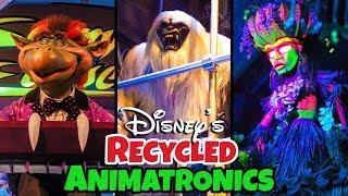 Top 10 Recycled Disney Animatronic Secrets Pt 3 Ft. Disney Dan