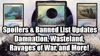 Banned List Update and Spoilers: Damnation, Wasteland, Ravages of War and More!