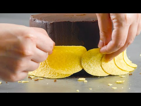 Make A Pringle Ringle Around This Cake For A Crispy Surprise!