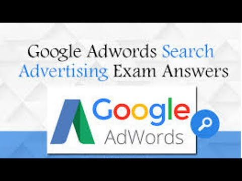 Google AdWords Advanced Search Advertising Exam Questions and answers 2019