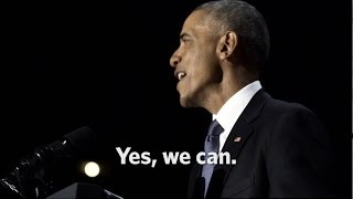 Close Of Obama's Farewell Address:  Yes, We Can