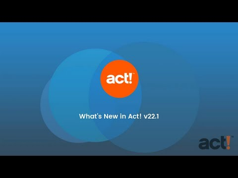 Act! Training Video - What's New in Act! v22.1 - YouTube