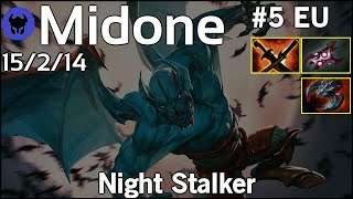 Midone [Secret] plays Night Stalker!!! Dota 2 7.20