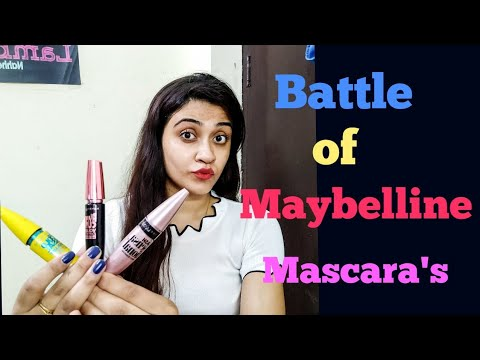 Battle of Maybelline Mascara's - Which one is the best? Lashsensetional vs Colossal vs Hypercurl