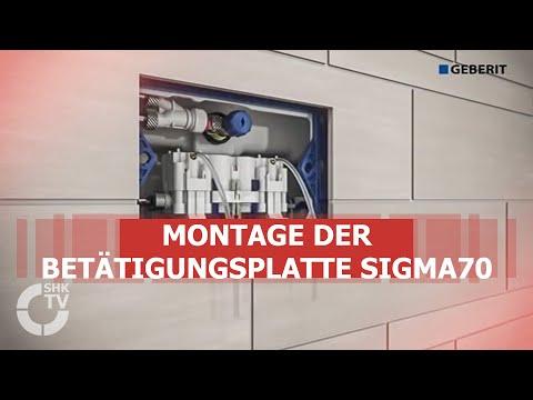 Geberit: Montagevideo Betätigungsplatte Sigma70