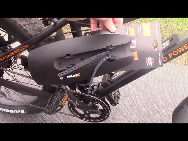 Видео Крыло переднее SKS Mud-X Mudguard 26-29˝ Black