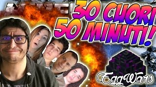 30 CUORI?! 50 MINUTI DI VIDEO! - Minecraft EGGWARS ITA W/ Tech4Play Kenoia Charlie Metano007