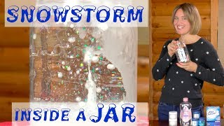 Snowstorm Inside a Jar   Fun Science Experiment for Kids