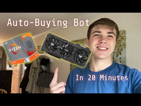 How to make an Auto-Buying Bot using Selenium (IN 20 MINUTES)