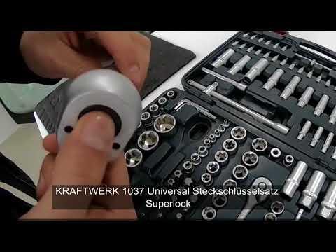 Kraftwerk 1037 - Kraftwerk 1037 Universal Steckschlüsselsatz Superlock 1/4+3/8+1/2 Zoll 200-tlg.