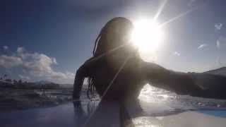 preview picture of video 'First-time surfing and swimming with sea turtles- Hawaii'