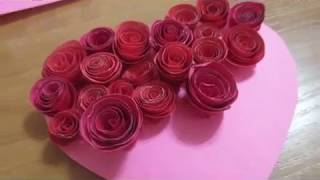 Валентинка своими руками из бумаги на 14 февраля. Valentine Card | Handmade
