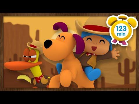 💰POCOYÓ en ESPAÑOL - Películas del Oeste [ 123 minutos ]   CARICATURAS y DIBUJOS ANIMADOS para niños