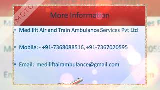 Advanced Life-Support Air Ambulance Service in Mumbai by Medilift